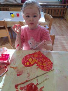 Hrátky s barvami na sv. Valentýna